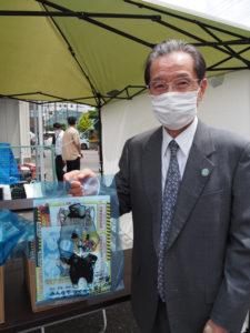 港北企業防犯協会の会長で株式会社シノザワ(新吉田東3)社長の篠沢秀夫さんも開催支援に尽力