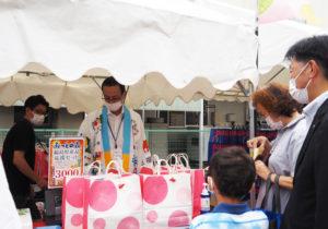 福島県観光物産交流協会が運営する「日本橋ふくしま館MIDETTE(ミデッテ)」ブースは福島県産品応援セットも販売