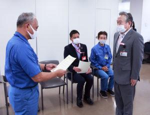 綱島本通郵便局(綱島西3)の齋藤修局長も認定証を受領していた